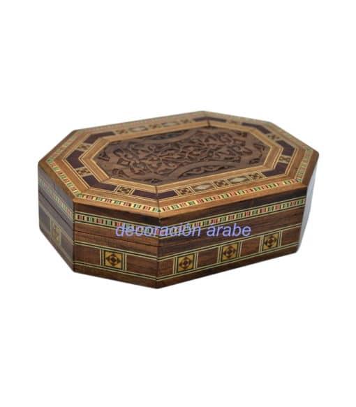 caja taracea octogonal