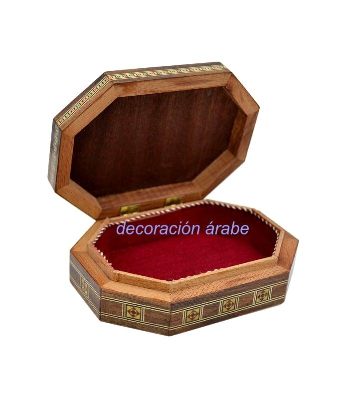 caja taracea octogonal siria