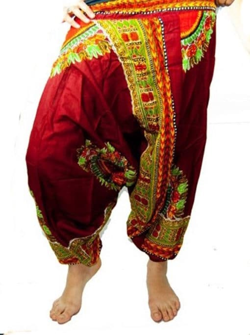 pantalones bombachos rojos