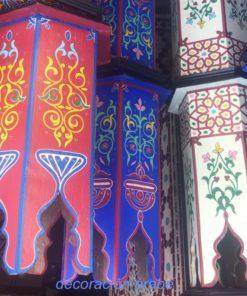 mesita marroquí madera pintada