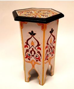 mesita marroqui madera pintada