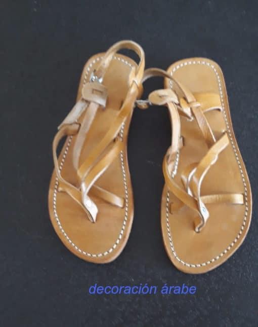 sandalias cuero trenzado mujer verano