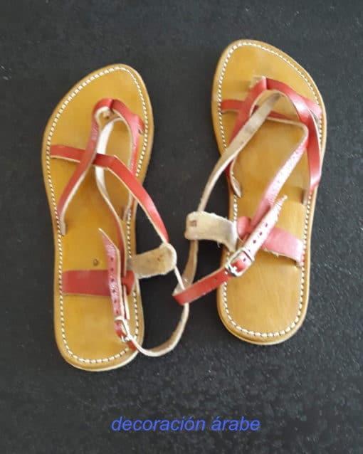 sandalias mujer cuero trenzadas
