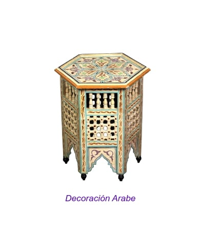 mesita de Marruecos celosía