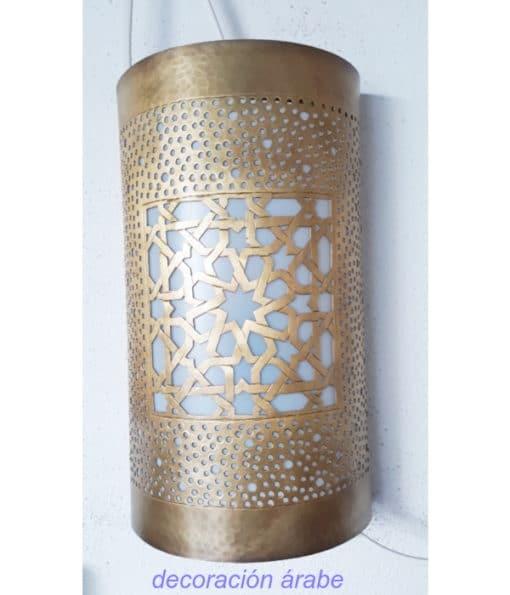 aplique pared latón arabe