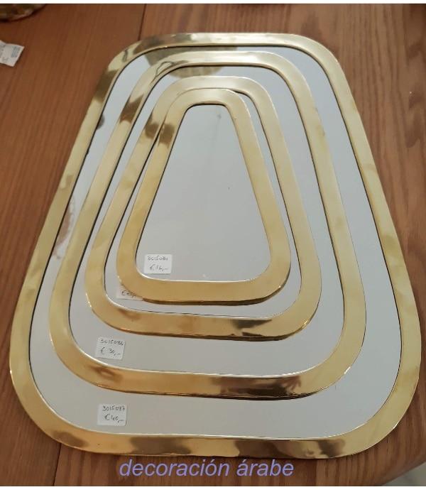 espejo dorado árabe