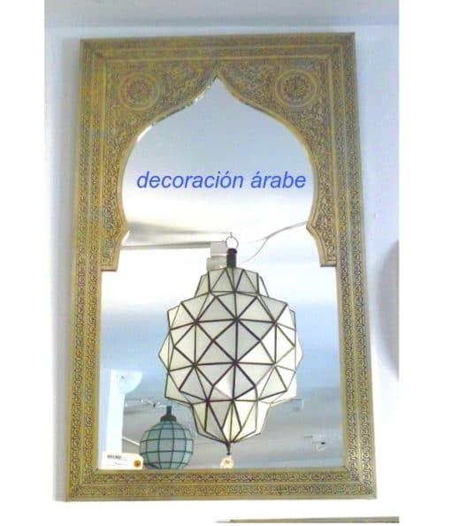 espejo marroquí dorado