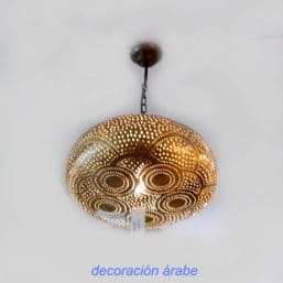 lampara techo cobre marroquí