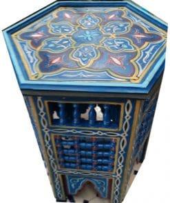 mesita árabe madera pintada