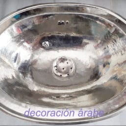 lavabo plateado