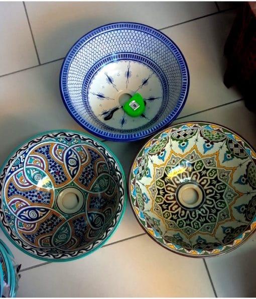 lavabos de cerámica árabe