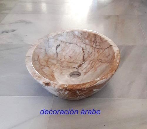 lavabo artesanal mármol