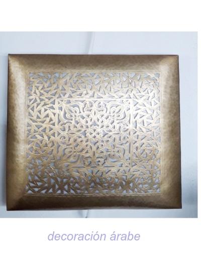 aplique dorado árabe pared