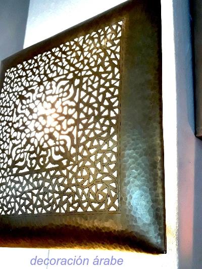 aplique pared plafón árabe