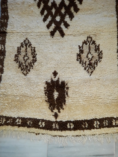 detalle alfombra berber beni ouarain