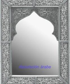 espejo árabe plateado