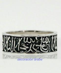 anillo de plata árabe
