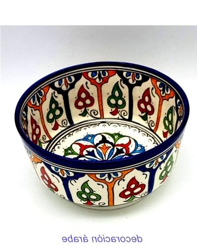 Cuenco cerámica marroquí multicolor