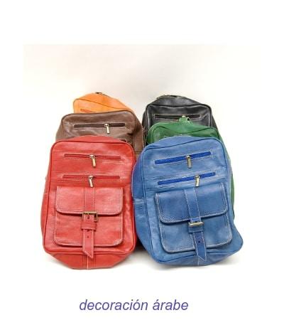 mochila cuero colores