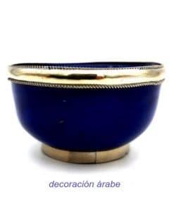 cuenco de cerámica marroquí y alpaca