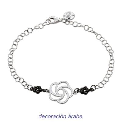 pulsera artesanal mujer plata de ley