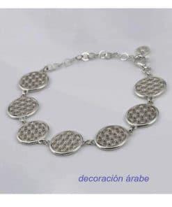 pulsera mujer plata flor de la vida