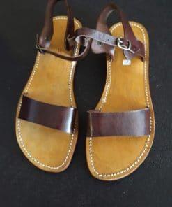 sandalias mujer verano marrón