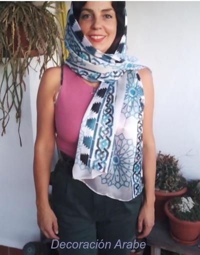 pañuelo seda estilo árabe
