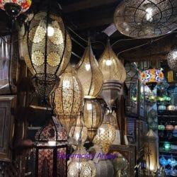 decoración árabe y artesanía marroquí