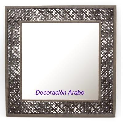 espejo madera celosía arabesca