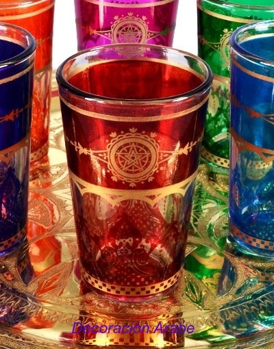 vasos té arabes