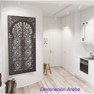Marco de celosía para espejo celosía de madera árabe oriental