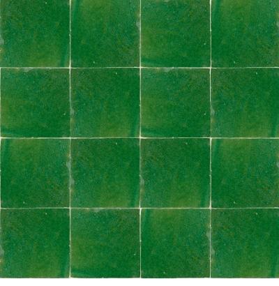 azulejos marroquíes artesanales verde