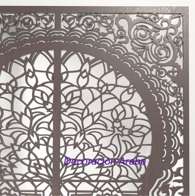 celosía madera espejo árabe