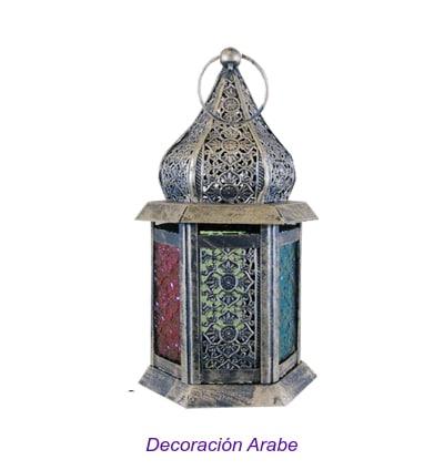 farol marroquí de mesa