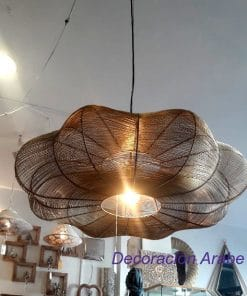 lampara colgante dorada grande