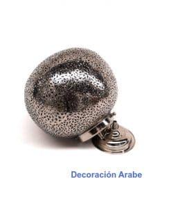 lámpara árabe niquelada plateada Bola