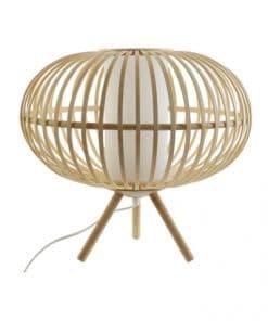 lampara de mesa de bambú artesanal