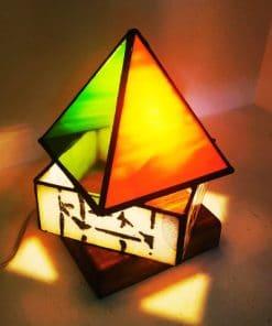 lampara sobremesa artesanal colores cristal tifany